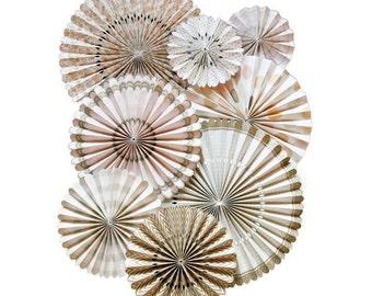 Vintage Pinwheel Backdrop/Paper Rosette backdrop/  Wedding background/ Giant paper Flowers/  paper fan backdrop/ wedding decoration