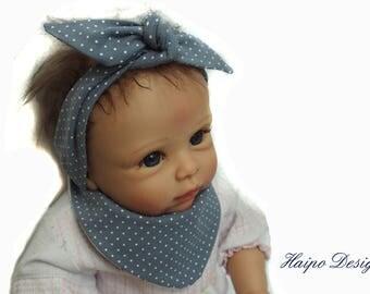 Baby hairband, bandana bib,