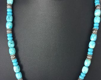 Native American Turquoise and sterling Silver Necklace