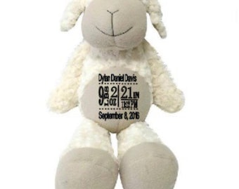 Super soft 18 inch lamb with personalization