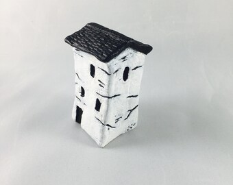 Handmade Miniature House, Clay Miniature Villages, Clay Figurine, Clay Collectables, Home Decor, Gift, Italian Houses, Fantasy Village