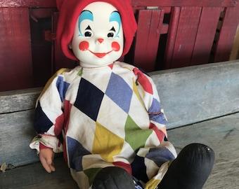1966 Mattel Cutie Patootie Clown Doll |  Clown Soft Body Doll