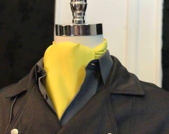 Yellow Satin Cravat // Yellow Satin Ascot