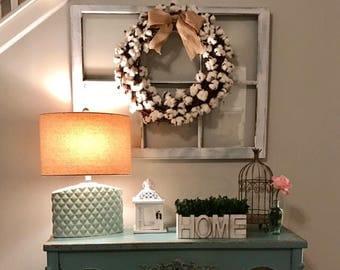 ON SALE wreath hanger window - vintage wood window - window frame - fireplace mantel decor - old wood windows - wedding window - diy window