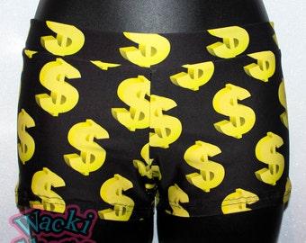 Money - Wacki Shorts  - Cheer, Gymnastics, Yoga, Dance, Hooping