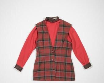VERSACE - tartan dress
