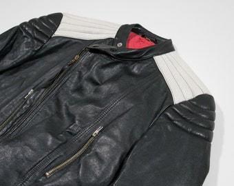 VINTAGE - Leather biker jacket