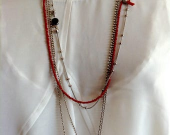 Lot of three necklaces necklace to wear together or separate