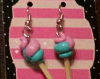 Earrings cotton candy 2 colors