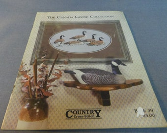 Counted Cross Stitch Patterns, The Canada Goose Collection, Country Cross Stitch 1987