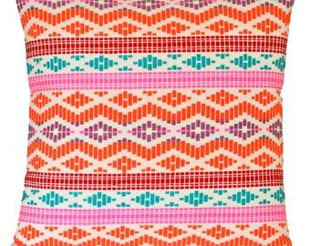 "Cushion Covers Orange Pink Large Tribal Cotton Floor Cushion European 60cm 24"""