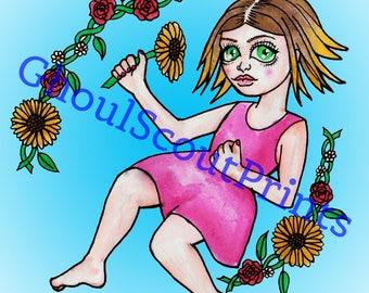 Sweet Summer Child - glossy art print