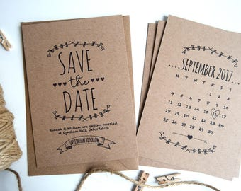Rustic Kraft Wedding Save The Date Card SAMPLE ONLY