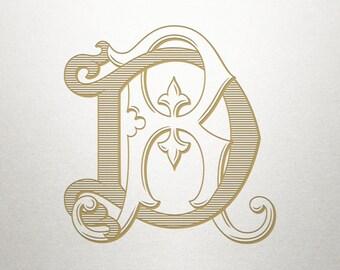 Wedding Invitation Monogram - DR RD - Invitation Monogram - Digital