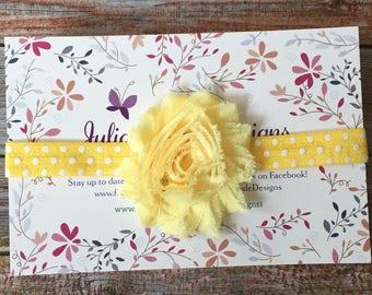 Yellow Headband, Baby Headband, Infant Headband, Newborn Headband, Baby Girl Headband, Headband, Spring Headband, Easter Headband, Headband