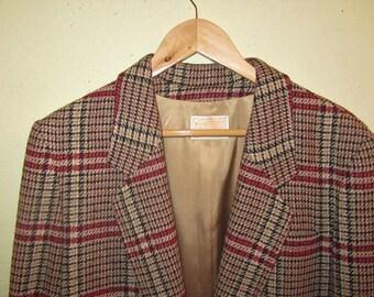 Vintage 80's Pendleton Tweed Jacket | Wool Blazer | Preppy