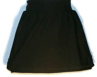 Running Skirt - Womens Activewear - Gym Workout Clothes - Black