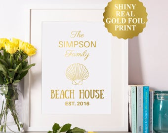 Custom Beach House Sign / Personalized Beach House Sign / Personalized Beach Signs / our first home sign / new homeowners / established sign