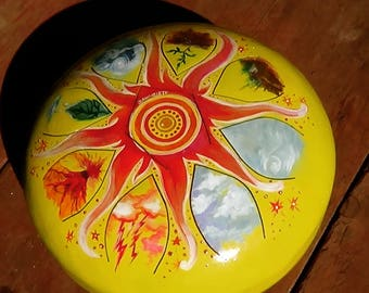Steel tongue drum The Elements