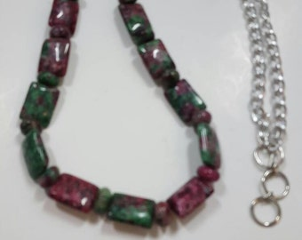 Dogtooth Ruby Zoisite Necklace