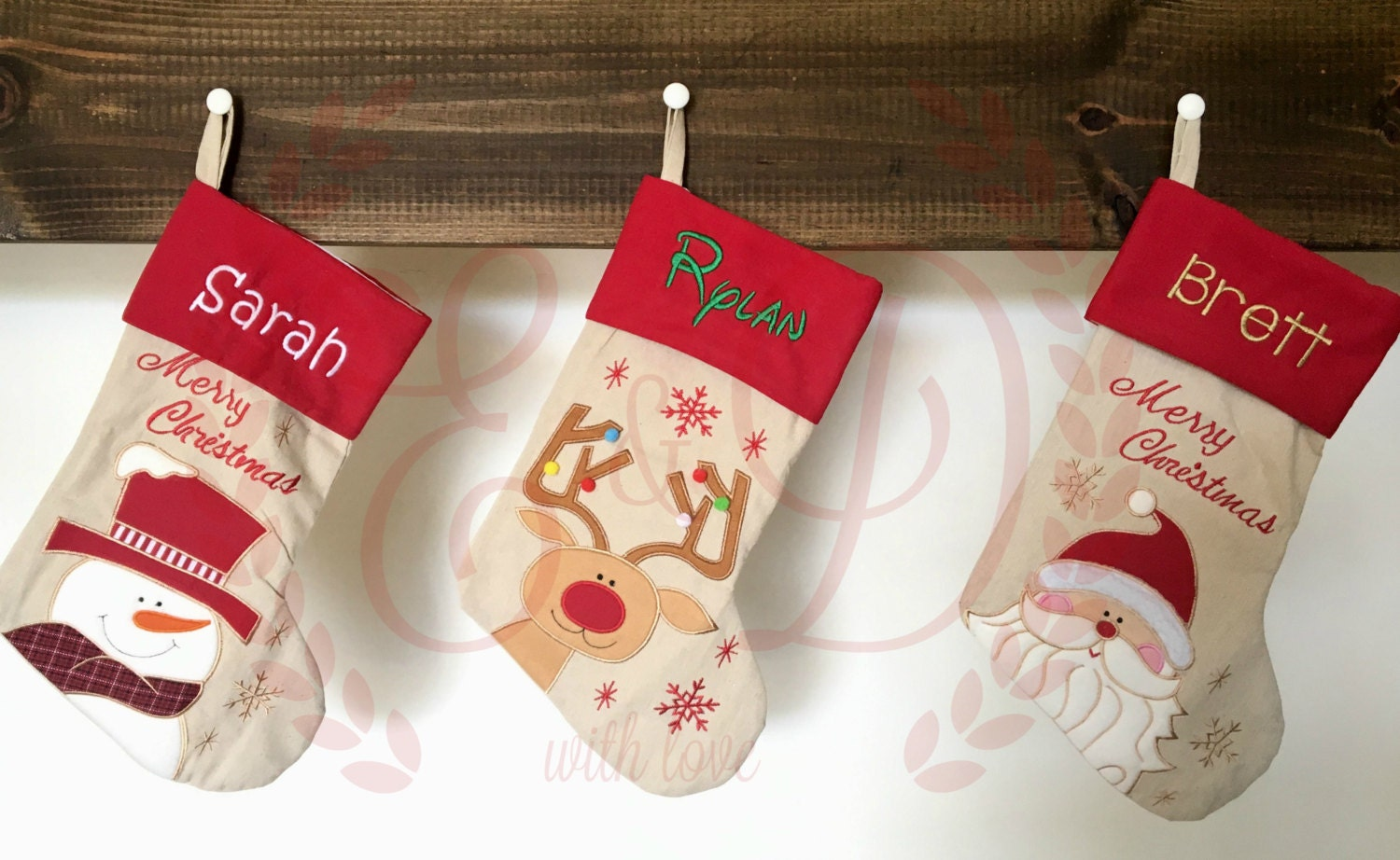 Personalized Christmas Stockings Monogrammed Christmas