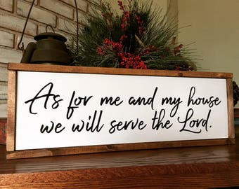As For Me and My House Wood Sign - Home Decor