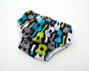 Guitars baby boy diaper cover-Baby guitars nappy cover-Cotton boy bloomers- Baby diaper cover-Nappy cover for boys