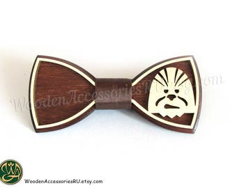 Wood bow tie Chewbacca, Chewey, Shewshaka, Millennium Falcon Star Wars Han Solo