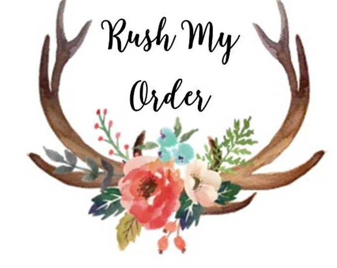 Rush Order and Upgraded Priority Shipping Option