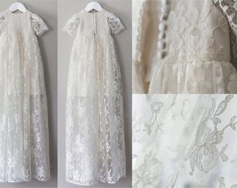 French Lace Couture Ceremony Gown