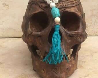 108 Skull Mala: Turquoise