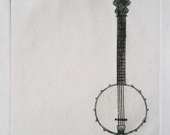 black banjo print