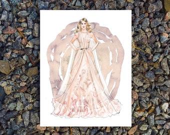 Fashion Illustration Print, Printable Art, digital art,  Modern Wall Art, Wall Decor, Digital Download, bride print, fashion printable