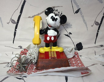 Mickey Mouse phone, vintage Disney animal 1970s