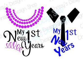 Baby's first New years svg file / happy new year svg / new year eps / baby new year svg / 1st new year svg / new year clip art / vinyl craft