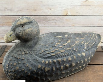 Vintage Duck Decoy | General Fiber Co - Ariduk | Hunting Decor
