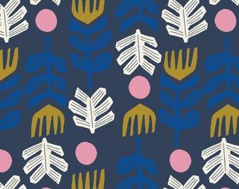 Big foot in Navy- Lore- Leah Duncan- Cloud 9 organic fabric
