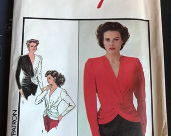 Vintage Style Blouse/Top Pattern 1421