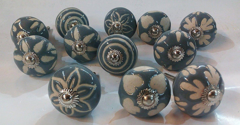 grey color knobs vintage ceramic door knobs kitchen cabinet. Black Bedroom Furniture Sets. Home Design Ideas