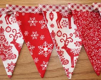 Christmas bunting, christmas banner, Scandi bunting, christmas garland, Scandinavian christmas bunting, christmas decoration, xmas banner