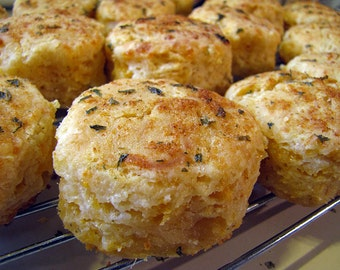 Ultimate Cheddar Biscuits, Seafood Restaurant-Style Cheese Biscuits, 1 Dozen Standard Size or 24 Party Size
