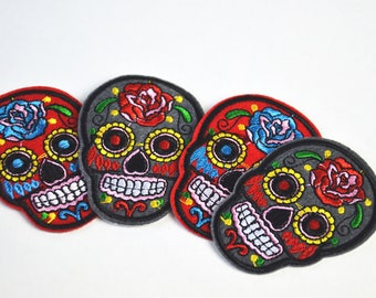 Sugar Skull Embroidered Patch