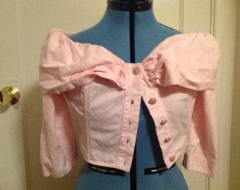 Cute 60's Light Pink Top