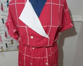 SALE:Vintage Pretty In Pink Dress