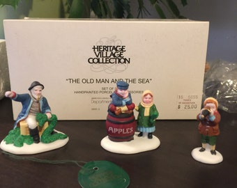 """Dept 56 Heritage Village """" The old man and the sea"""" Christmas accessories"""
