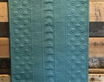 "Made to Order - Teal quilter runner. 15"" x 38.5"""