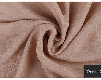 Spring/Summer Must Have's: Organic Bamboo and Silk (40/60%)  Linen in Desert Sand  Color.