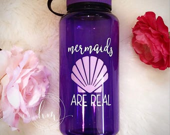Mermaids Are Real Water Bottle
