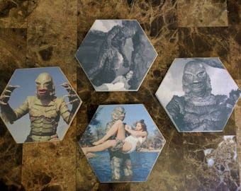 Creature From The Black Lagoon Decorative Coaster Set