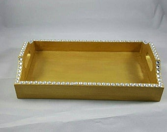 Painted wooden trays